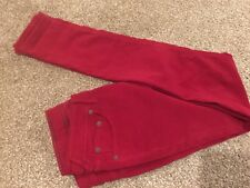 Ladies Jack Wills Red Narrow Leg Cotton/Elastane Trousers