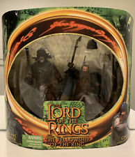 """Lord of the Ring, Uruk Hai Warrior, Gimli,2 pack, Fellowship of the Ring,6"""",MOSC"""