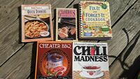 Lot Of 5 Cookbooks Booklets Chili BBQ Garlic Crock Pot Quick Betty Crocker