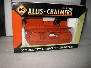 1/16 SPEC CAST  ALLIS CHALMERS MODEL K CRAWLER TRACTOR A.C MILWAUKEE OLD STOCK