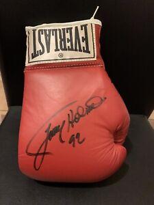 Larry Holmes Signed Leather Everlast Boxing Glove Autograph JSA COA Vintage Auto