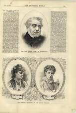 1879 The Late Baron Lionel De Rothschild Comedy Française