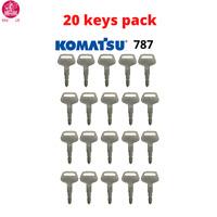20 x KEYS SET KOMATSU 787 DUMPER KEY WITH LOGO FOR MASTER PLANT EXCAVATOR
