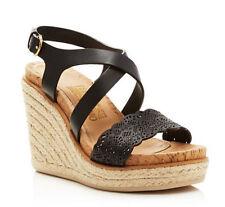 0dbaccbda113 Salvatore Ferragamo Gioela Wedge Espadrille Sandal NERO Calf Size 8 B