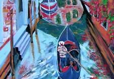 VENICE Italy ORIGINAL Art PAINTING DAN BYL Modern Contemporary Canvas Huge 4x5ft