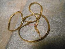 "14K Solid Gold Serpentine Chain Necklace 20"" 13 Grams Scrap"