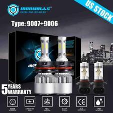 HB5 9007 LED Headlight + Fog Light Bulbs 9006 For 02-05 Dodge Ram 1500 2500 3500