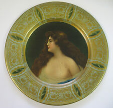 Vienna Art Plate from Early 1900s - Young Maiden