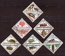 EP155/14 CENTRE-AFRIQUE : TIMBRES TAXE 6 doubles timbres,fleurs insectes
