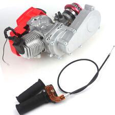 DIY Engine 49cc 2-Stroke w/ T8F 14t Gear Box Pocket Mini Air Filter+Grips+Cable