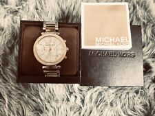 *Brand New * MK (Michael Kors ) Silver And Gold Luxury Ladies Watch