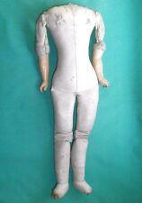 "antique leather body Victorian/Biedermeier 14"""