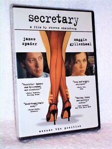 Secretary (DVD, 2008) Maggie Gyllenhaal James Spader kinky office romance NEW