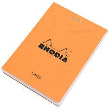 Rhodia Naranja Bolsillo A7 Forrado Bloc De Notas Diario Memo Libro Jotter shopping list Pad