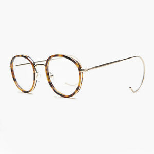 Round Tortoise Reading Glasses with Gold Cable Temples 2.00 diopter - Tyler