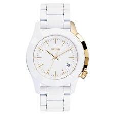Nixon A2881035 Women's White Dial White Acetate Bracelet Watch
