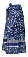 Indian Indigo Patch Work Style Bohemian Hippy Long Wrap around evening Dress