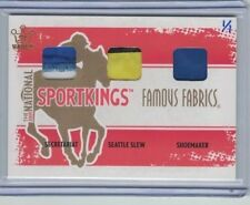 SECRETARIAT Shoemaker SEATTLE SLEW 2012 Leaf Sportkings Vault TRIPLE PATCH #1/1