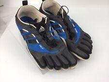 Adidas Adipure Five Finger Toe Barefoot Trainer Men's Size 11 Black Blue Shoes