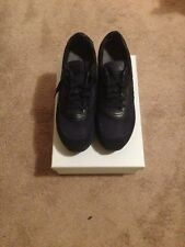 Santoni Mens Shoes Dark Blue Suede Sneakers 10.5 GUARANTEED AUTHENTIC