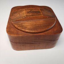 New ListingStag Vintage Mens Wood Shaving Bowl Mug No Soap Rexall Drugstore Label Intact