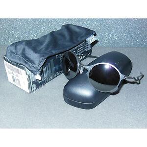 New Oakley Tailend Sunglasses Titanium/Black Iridium Round Wires Tail End Metal
