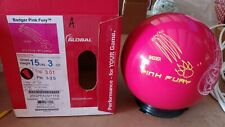 New 15lb 900 Global Pink Fury Bowling Ball Y119
