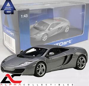 AUTOART 56007 1:43 MCLAREN MP4-12C (ICE SILVER) SUPERCAR DIECAST MODEL CAR