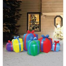 8 ft. Row of Presents Non Metallic Christmas Inflatable