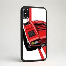 Rojo Coche de Carreras Deportes Top F40 Goma Teléfono Estuche Cubierta para iPhone Samsung Galaxy