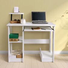 Computer Desk 2 Shelves Laptop Pc Table Home Office Study Workstation White Us