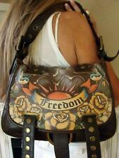 ISABELLA FIORE LEATHER TATTOO FREEDOM MESSENGER SHOULDER BAG USED TWICE