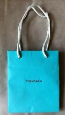 """Authentic Tiffany & Co. Blue Shopping Gift Bag 6"""" x 5"""" x 3"""" Small ring earing"""