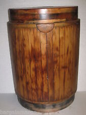 All Wood Whiskey Barrel Wine Barrel Half End Table shelf Furniture Home Decor