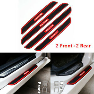 4Pcs Front+Rear Door Scuff Sill Cover Car Door Sill Panel Step Protector Strips
