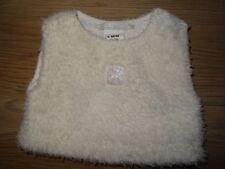 Pull fourrure blanc boutons flocons Taille 6 mois / 67 cmORCHESTRA super état