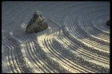 334020 Kyoto temple Garden Lone Stone A4 Photo Print