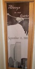 World Trade center banner wall hanging always in our hearts 9/11 New York city