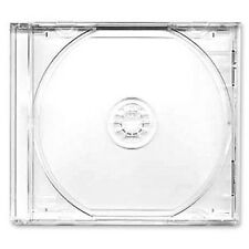 100 X CD / DVD JEWEL 10.4 mm casi per 1 disco con vassoio Chiaro-pacco da 100