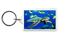 HAWAIIAN TURTLE KEYCHAIN - DOUBLE SIDED ACRYLIC KEYRING