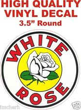 Vintage Style White Rose Gasoline Gas Pump Oil Decal - The Best or 100% Refund!!