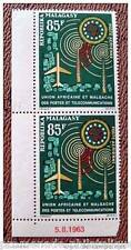 MADAGASCAR timbre - stamp aérien yver et tellier n°92 x2 - n**