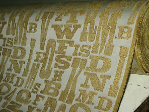 SANDY GOLD LETTERS  UPHOLSTERY FABRIC LOOSE COVERS armchair settee Sofa K38