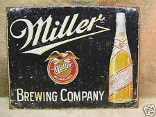 Miller Brewing Vintage Look Tin Metal Sign Bar Beer NEW