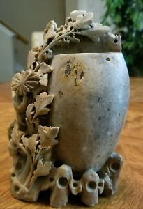 Vintage soapstone carving chinese