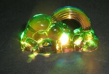 Arcobaleno Nuvole Cristallo Peacock GLASS CRYSTAL COLOUR ORNAMENT 109038-75x38