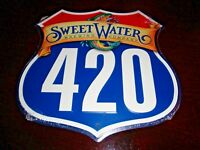 Sweetwater Brewing Company Highway 420 Trout Metal Beer Tacker Brewery Craft New
