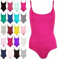 Womens Strappy Bodysuit Ladies Sleeveless Camisole Vest Leotard Cami Top UK 8-22