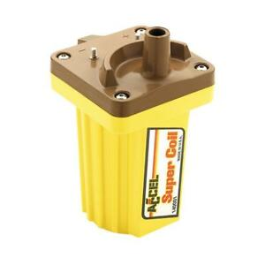 Accel Ignition Coil 140001; Supercoil Yellow 45,000 Volts Points (Socket)