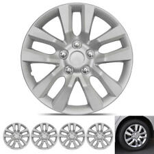 Hub Caps Cover for Car SUV Van New Premium ABS Silver Wheel Protector 4-Pack